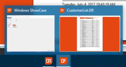 Nova classe de pré-visualização do DataFlex Reports