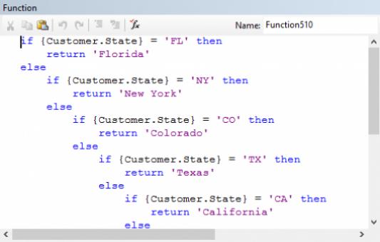 Bloco de código condicional utilizando comandos IF