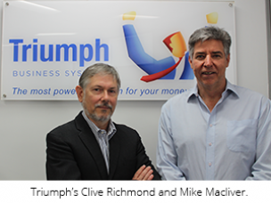 Triumph's Clive Richmond and Mike Macliver