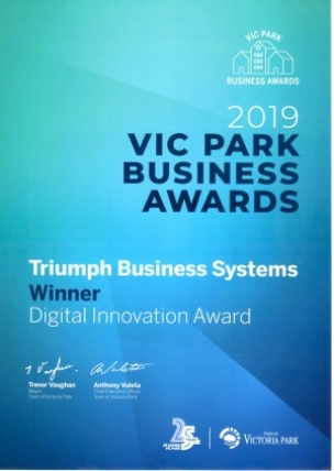 Vic Park Business Awards 2019 - Triumph Business Systems