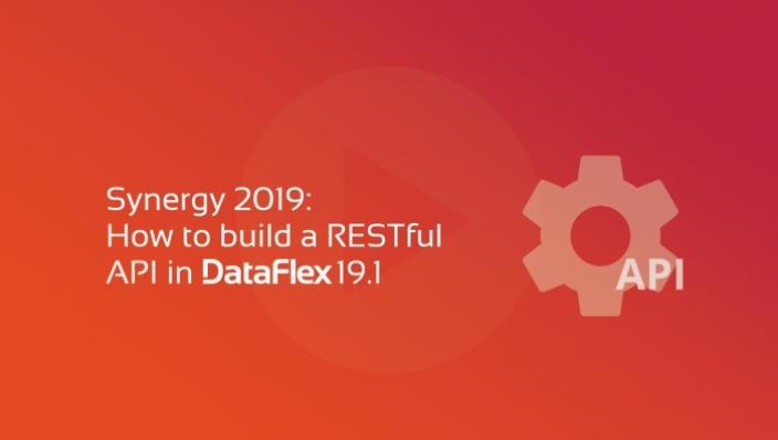 synergy apis restful com DataFlex 19.1