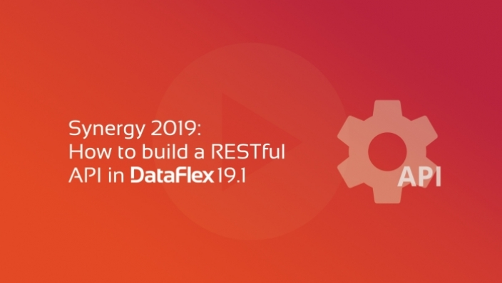 synergy apis restful com DataFlex 19.1
