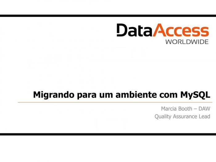 MySQL e DataFlex