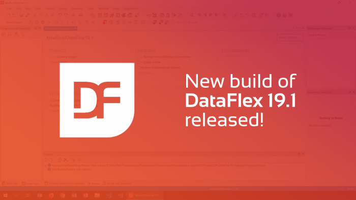 2019-10-25 dataflex 19.1 new build